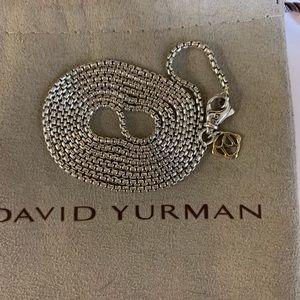 """David yurman 1.7mm sterling & 14k tag chain 24"""""""